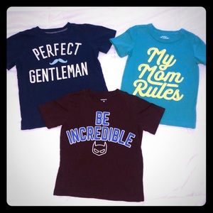 Carters/Oshkosh graphic T shirts